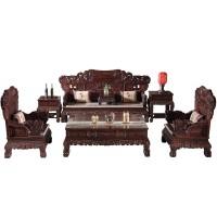 印尼黑酸枝麒麟沙发 红木沙发价格 阔叶黄檀沙发图片