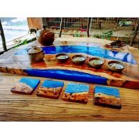 河流桌专用胶 复古桌面胶 树枝桌面胶