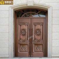 上海别墅防盗门供应镂空庭院铜门南汇真铜门窗加工