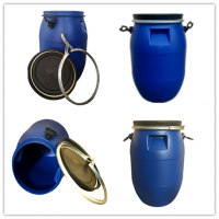 30l法兰桶-50升抱箍桶-化工塑料桶-60L医药铁箍桶