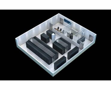 青岛全景图设计|机房研发室效果图|室内立体户型图制作