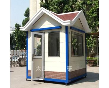 钢结构岗亭厂家  山西晋中城市街景岗亭  景区售票亭