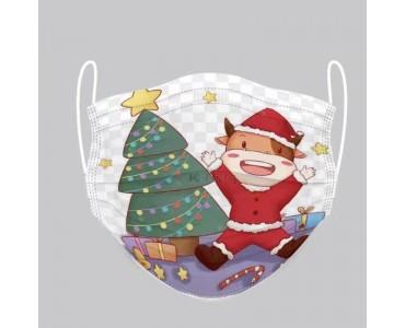 圣诞树款水刺无纺布 口罩 圣诞节款 可定制