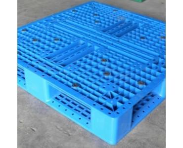包装现货塑料托盘 高承重吹塑网格九脚叉车托盘 塑料托盘